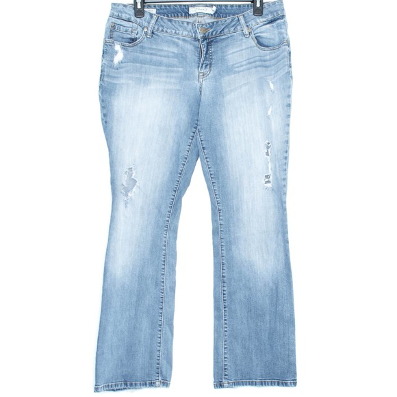 Torrid Jeans Relaxed Boot Cut Distressed 16 DP